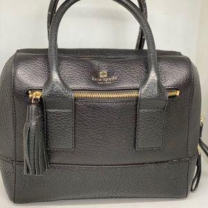 KATE SPADE Pebbled Black Leather Satchel